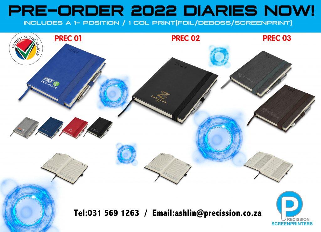New 2022 Diaries